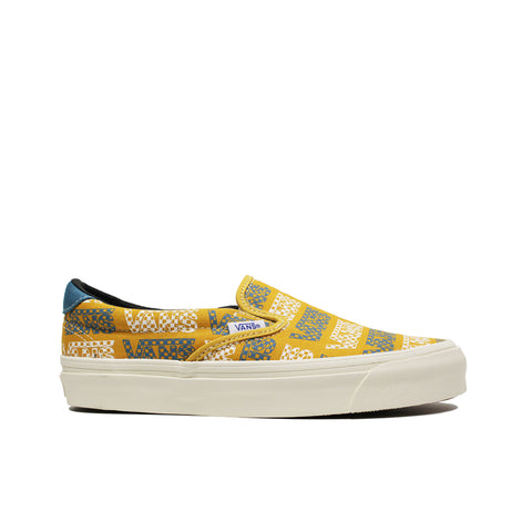 VANS VAULT <BR> OG SLIP-ON 59 LX 'LOGO CHECKERBOARDER' (YELLOW / BLUE)