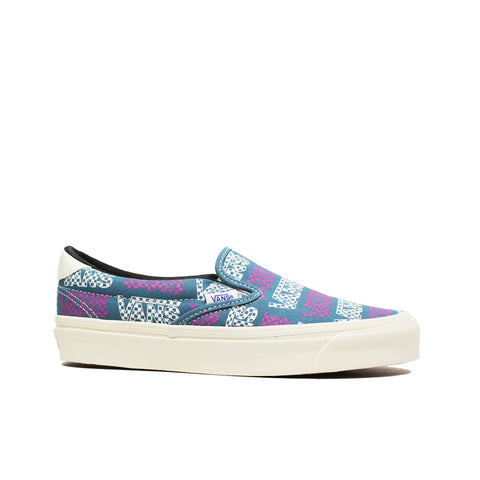 VANS VAULT <BR> OG SLIP-ON 59 LX 'LOGO CHECKERBOARDER' (BLUE / PURPLE)