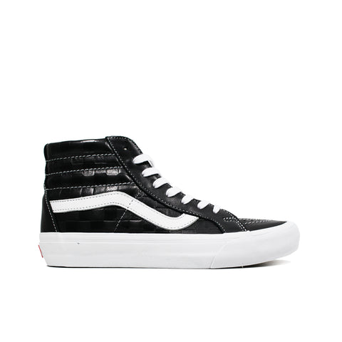 VANS VAULT <br> SK8-HI REISSUE LX 'EMBOSSED CHECKERBOARD / LEATHER' (BLACK)