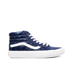 VANS VAULT <br> SK8-HI REISSUE LX 'EMBOSSED CHECKERBOARD / LEATHER' (NAVY)