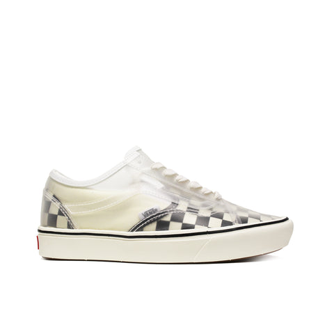 VANS <BR> COMFYCUSH SLIP-SKOOL 'CHECKERBOARD' (BLACK / WHITE)
