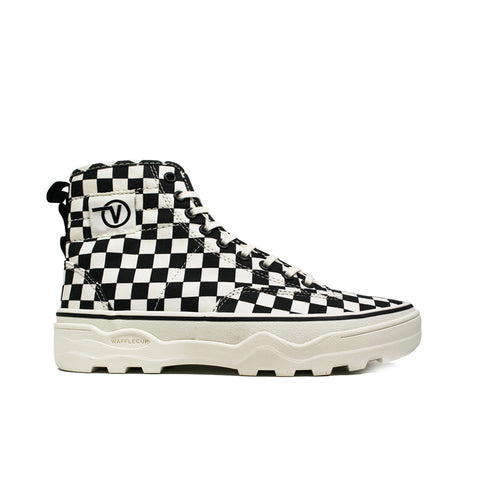 VANS <br> SENTRY WC 'CANVAS CHECKERBOARD' (BLACK / MARSHMELLOW)