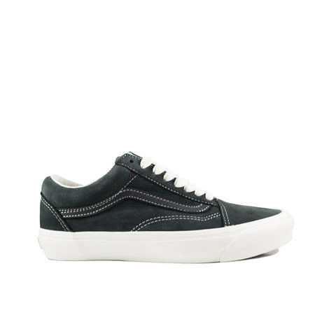 VANS VAULT <BR>  OG OLD SKOOL LX 'NUBUCK/LEATHER'  (RAVEN)