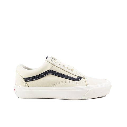 VANS VAULT <BR>  OG OLD SKOOL LX 'NUBUCK/LEATHER'  (ANGORA)