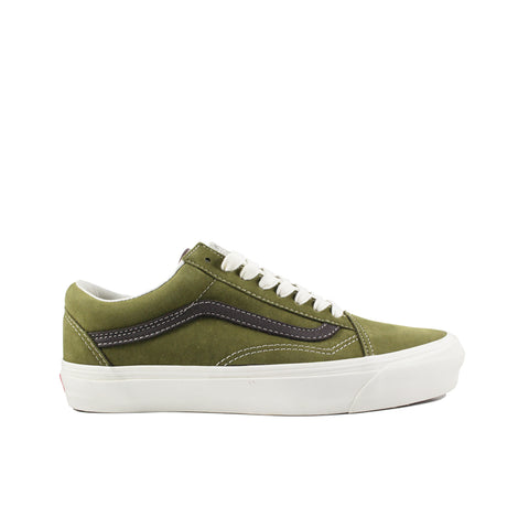 VANS VAULT <BR>  OG OLD SKOOL LX 'NUBUCK/LEATHER'  (CHOCOLATE CHIP)