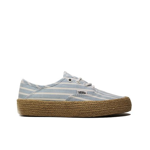 VANS <BR> WOMEN'S AUTHENTIC ESP 'STRIPED LINEN' (ALASKAN BLUE)