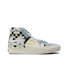 VANS VAULT <BR> SK8-HI LX BRICOLAGE 'EMBROIDERED CHECKER' (POWDER BLUE)