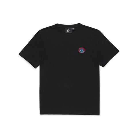 by PARRA<BR>'OPEN EYE' TEE<BR>(BLACK/EMBROIDERED)
