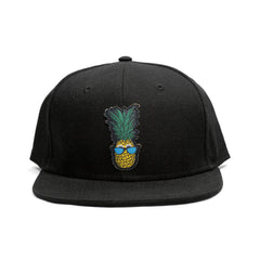 "KICKS/HI <BR>""NEW PINEAPPLE"" SNAPBACK HAT (BLACK)"