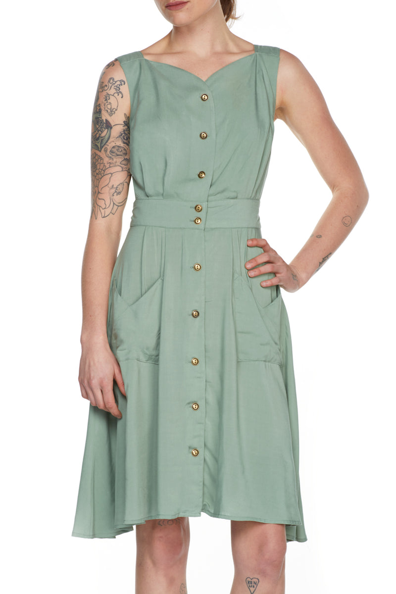 Sheet Dress in Celadon Challis