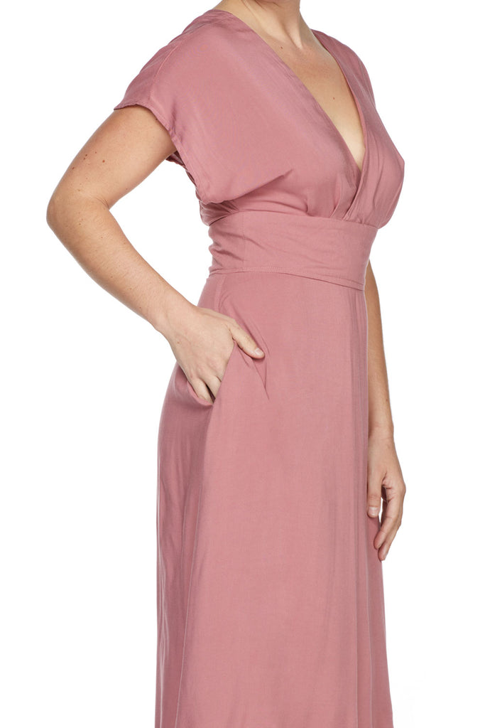 Emme Lou Dress in Mauve