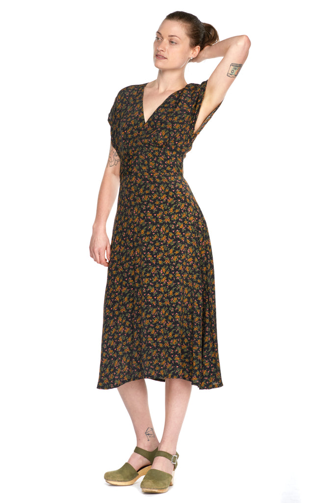 Emme Lou Dress in Black Bouquet