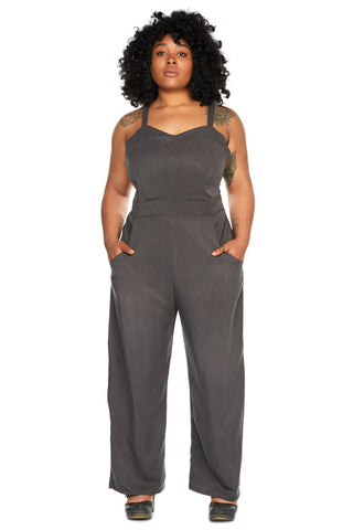 Juniper Jumpsuit in Indigo Tencel