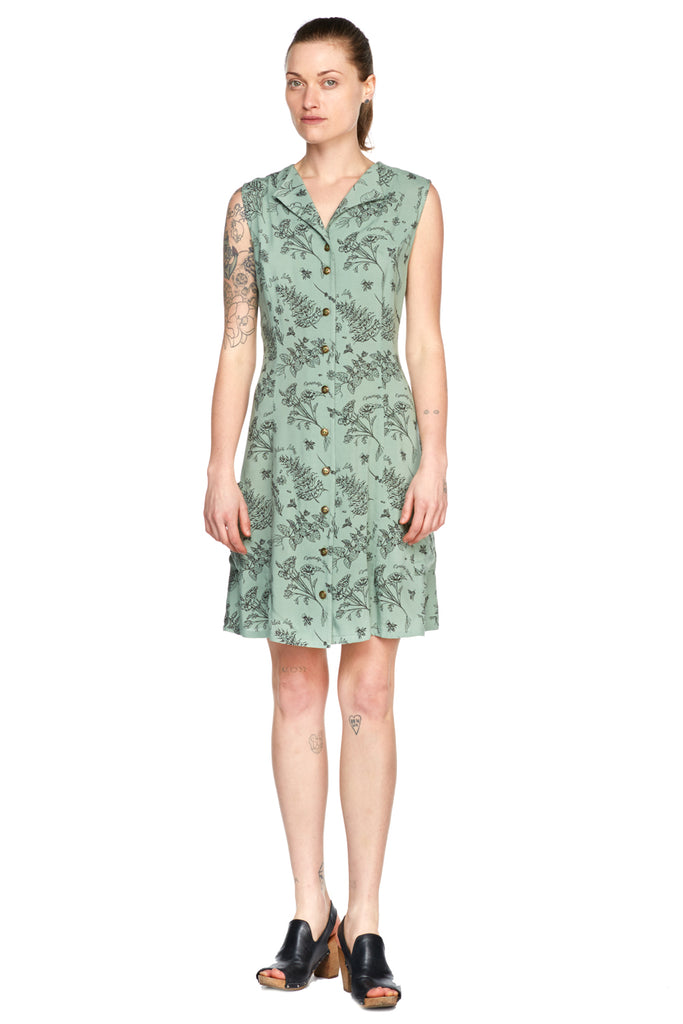 Loretta Dress in Celadon Nervine