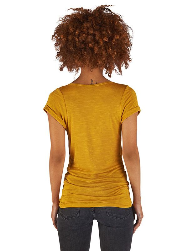 Cowl neck top in Mustard