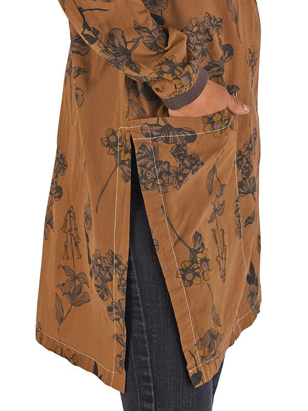 Kurta top in Floral Sepia