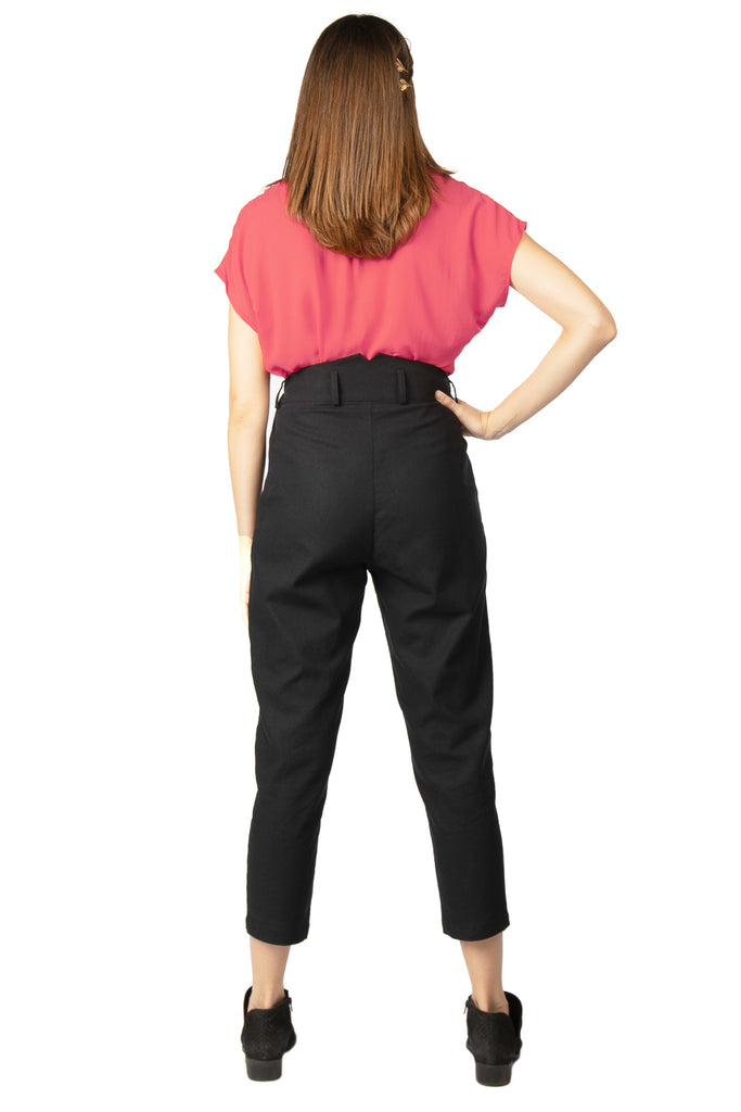 Perfect Pant 2.0 in Black Linen