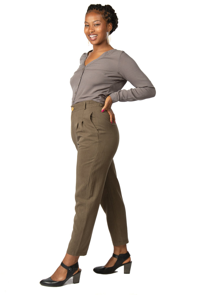Perfect Pant 2.0 in Olive Tencel