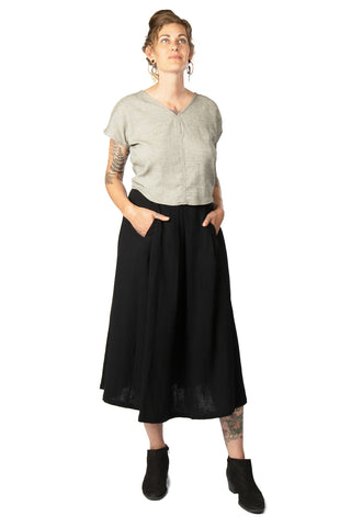 Bae Skirt in Taupe Linen