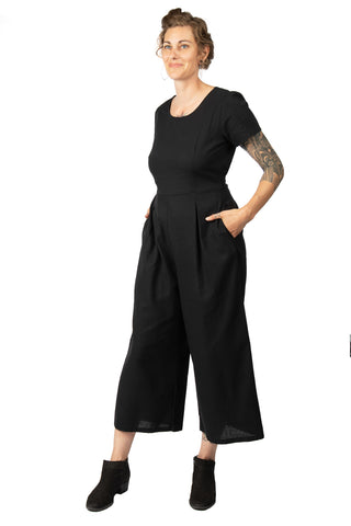Liberty Jumpsuit in Black Linen