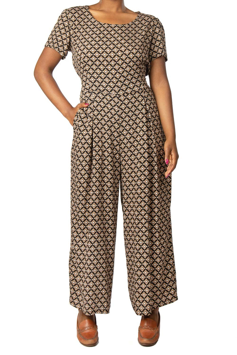 Vega Jumpsuit in Diamond Filigree