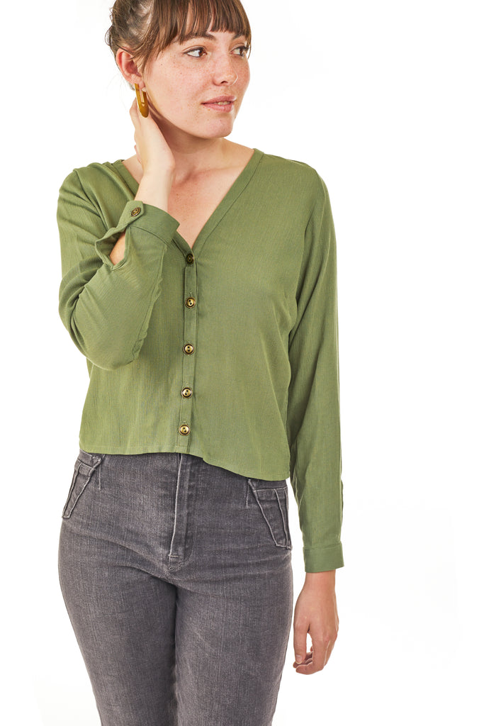Brook Blouse in Moss