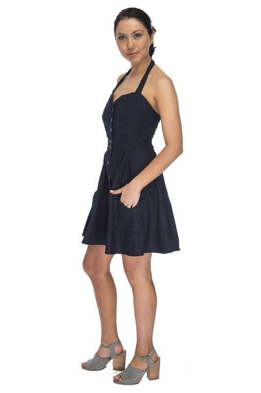 Bedding Dress in Navy
