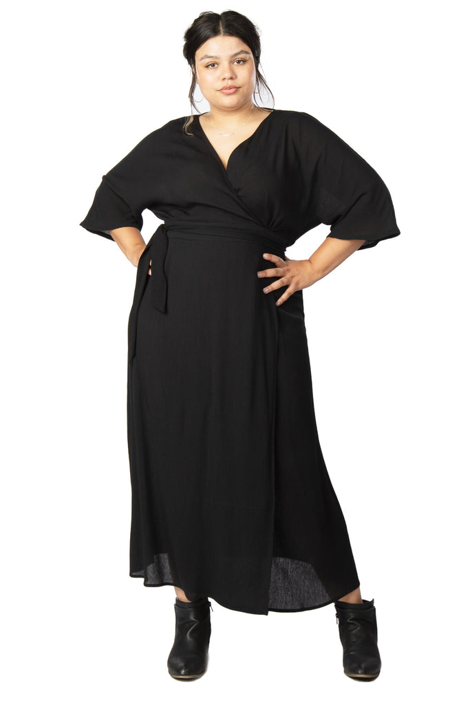 Diana Dress in Black Crepe