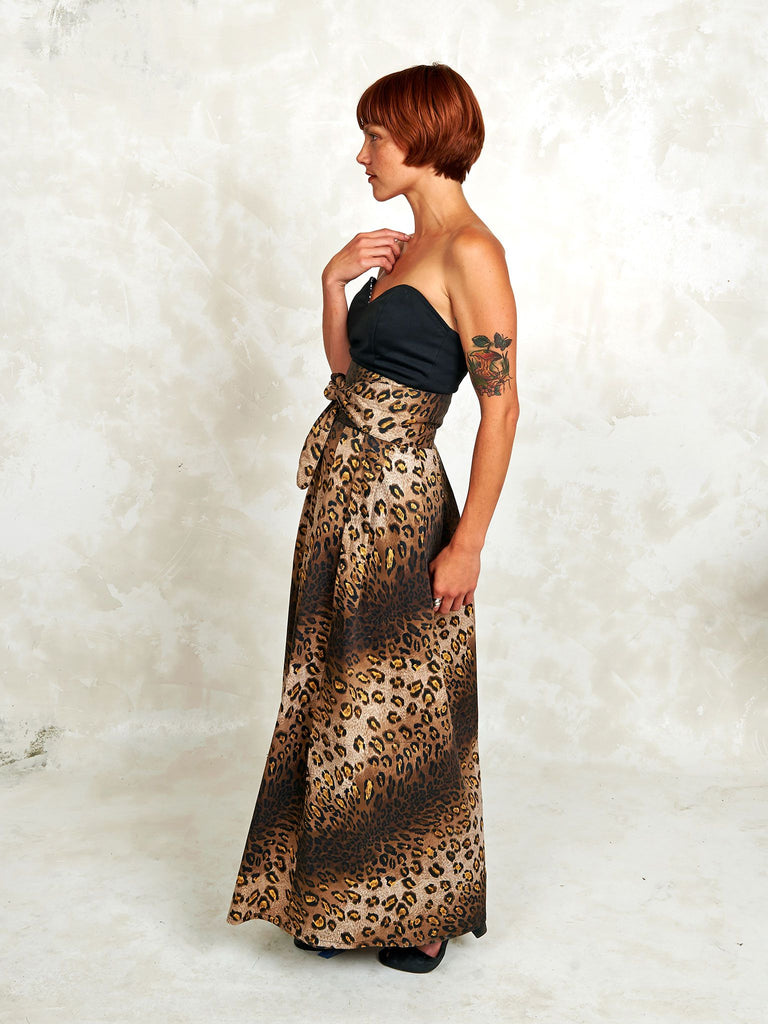 Maxi Wrap Skirt in Meow