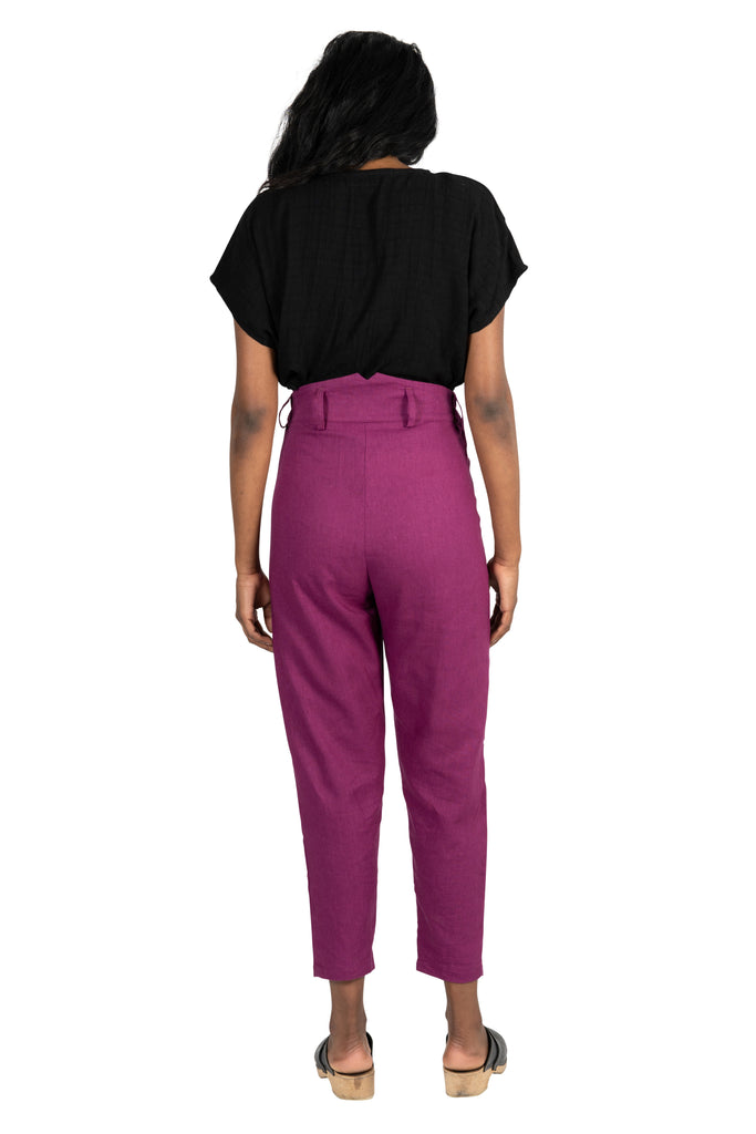 Perfect Pant in Electric Violet Linen