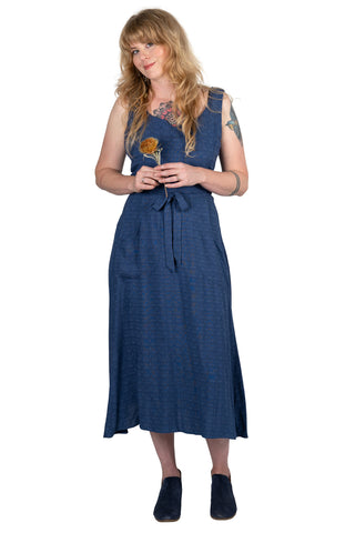 Wrap Dress in Indigo Denim