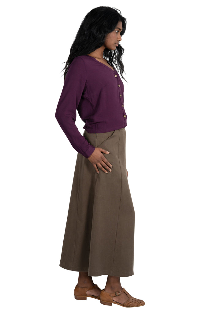 Brook Blouse in Eggplant Gauze