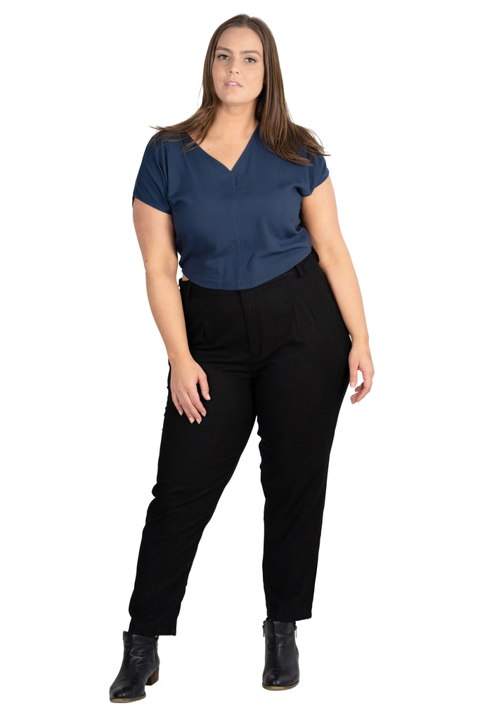 Dolman top in Navy Rayon Challis