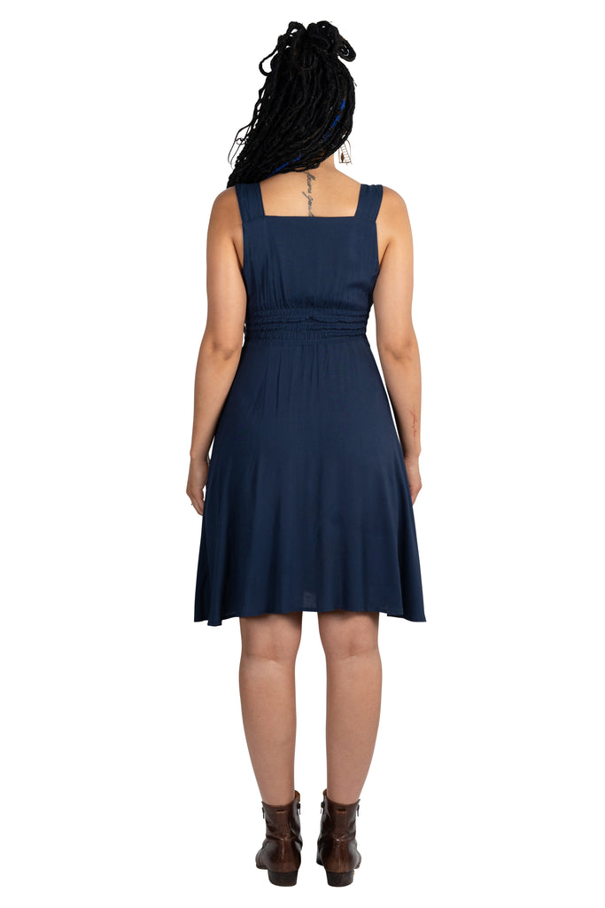 Sheet Dress in Navy Challis