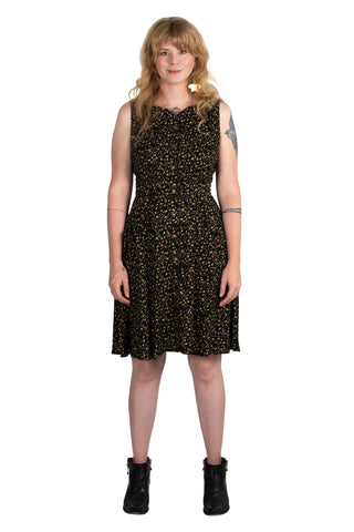 Tia Dress in Lemon Wood Sorrel