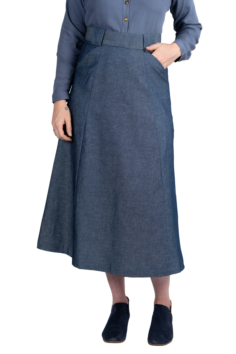 Olivia Skirt in Indigo Denim