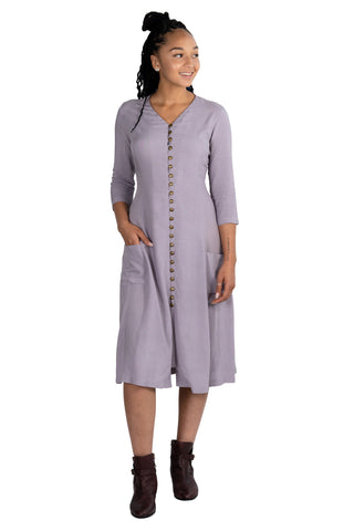 Cross-Over dress in Dusk Blue Portifino