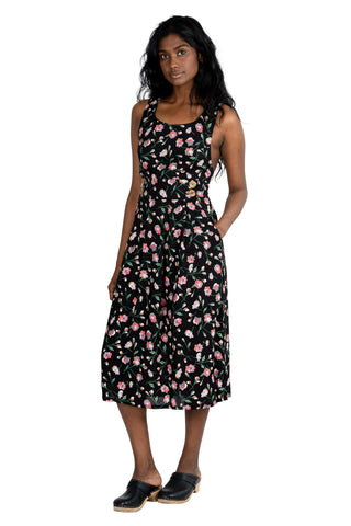 Loretta Dress in Black Floral