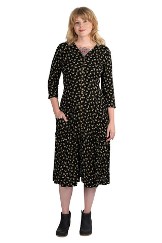 Wrap Dress in Black Nervine