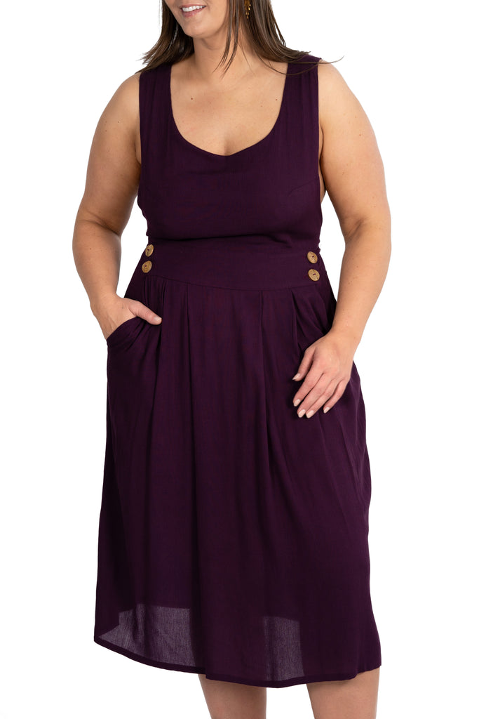 Brigid Jumper in Plum Gauze