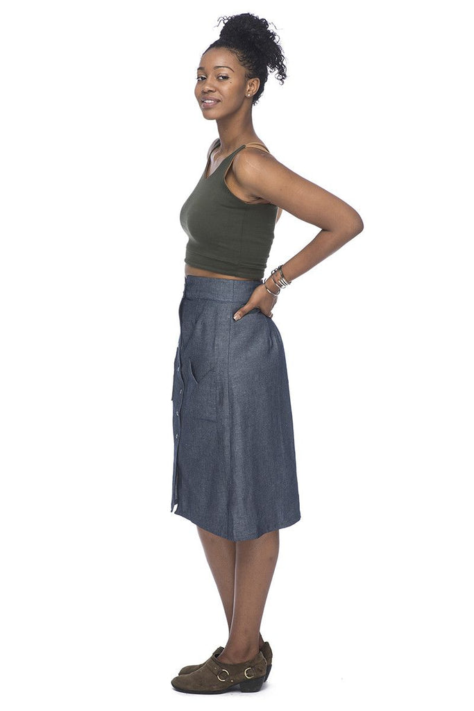 Midi Skirt in Denim