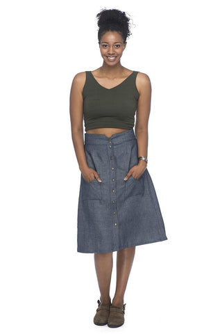 Bae Skirt in Washed Denim