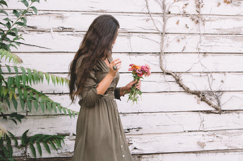 Vera Dress in Olive