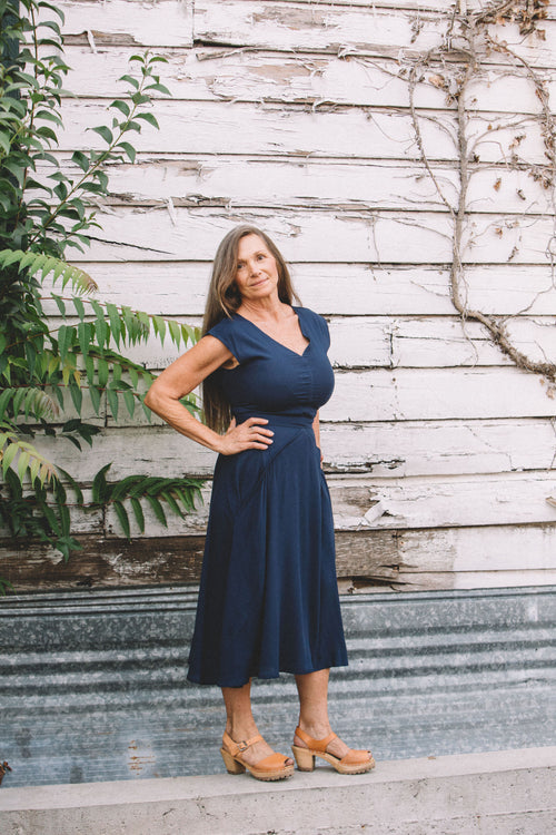 Xena Dress in Navy Blue