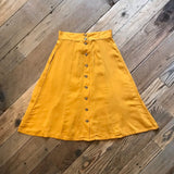 Bae Skirt in Mustard Challis