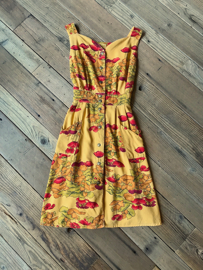 Sheet Dress in Golden Rod Poppy