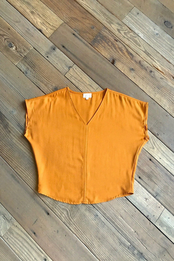 Dolman Top in Golden Rod Crepe