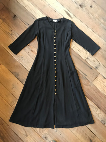 Xena Dress in Black Rosebud