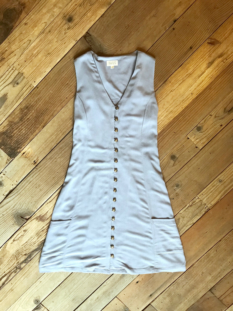 Sleeveless Fiona in Lavender Crepe