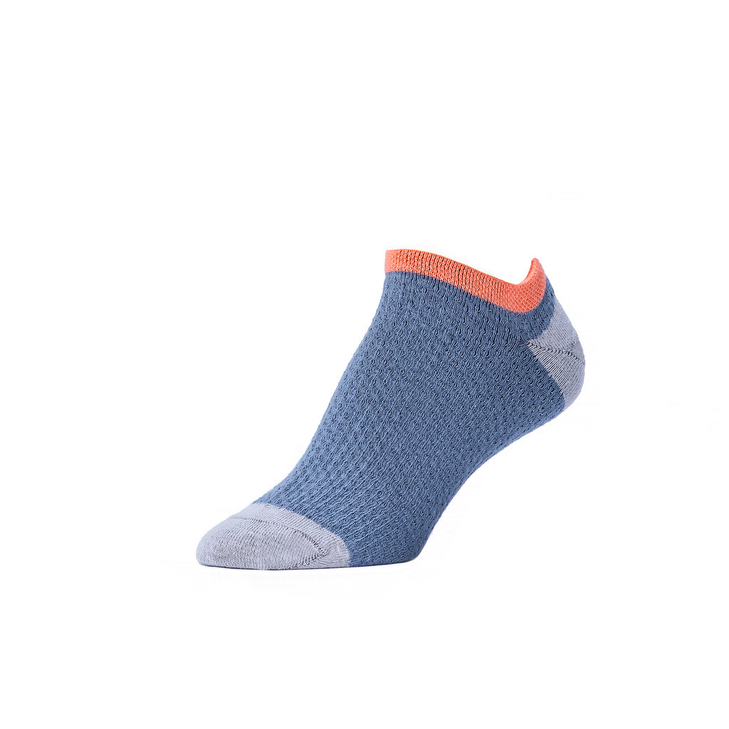 Pin Tucked Footie - Steel Salmon